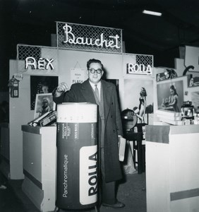 France Paris Photo Cine Sound Fair Booth Bauchet Rolla Old Amateur Snapshot 1951