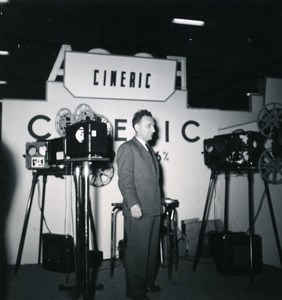 France Paris Photo Cine Sound Fair Booth of Cineric Old Amateur Snapshot 1951