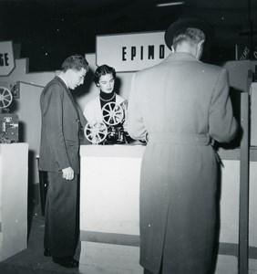 France Paris Photo Cine Sound Fair Booth of Epimo Old Amateur Snapshot 1951