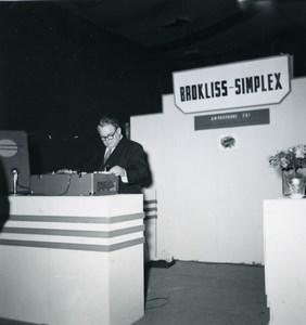 Paris Photo Cine Sound Fair Booth of Brockliss Simplex Old Amateur Snapshot 1951
