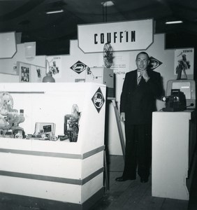 France Paris Photo Cine Sound Fair Booth of Couffin Old Amateur Snapshot 1951