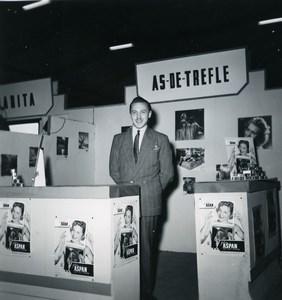 France Paris Photo Cine Sound Fair Booth As de Tréfle Old Amateur Snapshot 1951