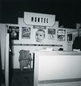 France Paris Photo Cine Sound Fair Booth Paul Montel Old Amateur Snapshot 1951