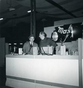 France Paris Photo Cine Sound Fair Booth of Mas Old Amateur Snapshot 1951