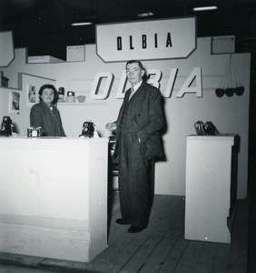 France Paris Photo Cine Sound Fair Booth of Olbia Old Amateur Snapshot 1951