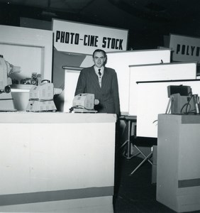 Paris Photo Cine Sound Fair Booth of Photo Cine Stock Old Amateur Snapshot 1951