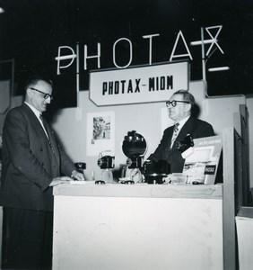 France Paris Photo Cine Sound Fair Booth Photax Miom Old Amateur Snapshot 1951
