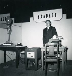 France Paris Photo Cine Sound Fair Booth of Exaphot Old Amateur Snapshot 1951