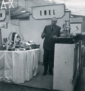 France Paris Photo Cine Sound Fair Booth of Emel Old Amateur Snapshot 1951