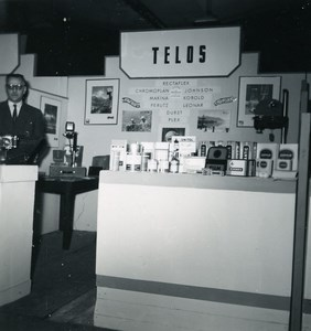 France Paris Photo Cine Sound Fair Booth of TELOS Old Amateur Snapshot 1951