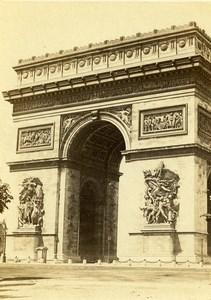 France Paris Arc de Triomphe de l'Étoile Old CDV Photo Debitte & Hervé 1870