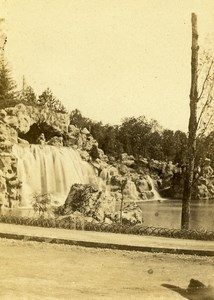 France Paris Cascade du Bois de Boulogne ancienne Photo CDV Debitte & Hervé 1870