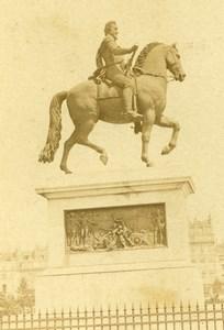 France Paris Pont Neuf Statue Equestre Henri IV ancienne Photo CDV 1870