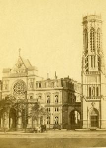 France Paris Church Saint Germain l'Auxerrois Old Debitte & Hervé CDV Photo 1870