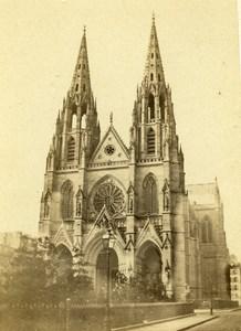 France Paris Basilica of Saint Clotilde Old CDV Photo Debitte & Hervé 1870