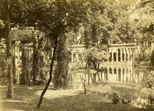 France Paris Parc Monceau Colonnade Old CDV Photo Hautecoeur 1870