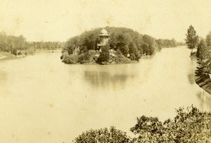 France Paris Lac du Bois de Boulogne Lake Old CDV Photo Hautecoeur 1870