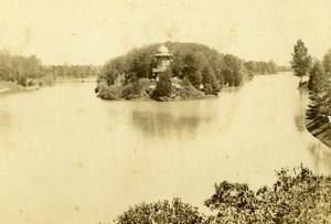 France Paris Lac du Bois de Boulogne Lake Old CDV Photo Hautecoeur 1870