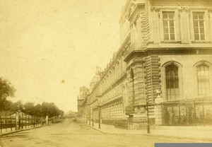 France Paris Palais du Louvre Old CDV Photo Plaut 1870