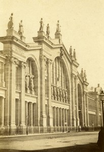 France Paris Gare du Nord Railway Station Old CDV Photo Hautecoeur 1870