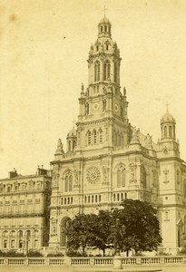 France Paris Église de la Sainte-Trinité Church Old CDV Photo Hautecoeur 1870