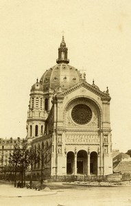 France Paris Église Saint-Augustin Church Old CDV Photo Hautecoeur 1870