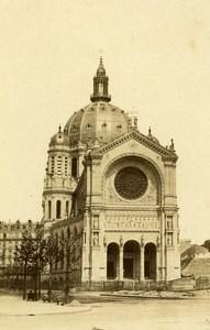 France Paris Église Saint-Augustin Church Old CDV Photo Hautecoeur 1870