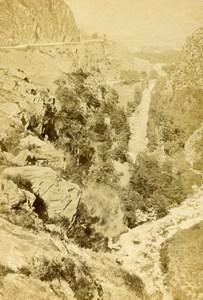 Pyrenees Ravine at Pierrefitte near Cauterets Old CDV Photo Andrieu 1870