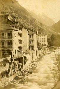 Pyrenees Gave pris du pont de la Gêle à Cauterets River CDV Photo Andrieu 1870