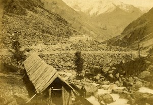 Pyrenees Cauterets Sawmill Lutour la Railliere Scierie CDV Photo Andrieu 1870