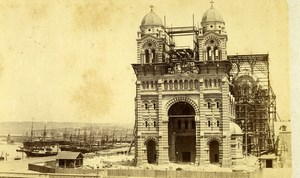 France Marseille Cathedral under construction Old Neurdein CDV Photo 1870's