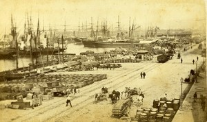 France Marseille La Joliette Docks & Port Sailboat Old Neurdein CDV Photo 1870's