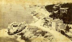 Marseille Route de la Corniche from Reserve Roubion Neurdein CDV Photo 1870's