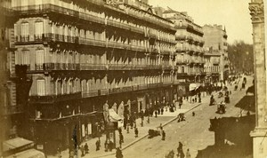 France Marseille rue de Noailles Street Scene Old Neurdein CDV Photo 1870's