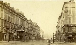 France Marseille Street Canebiere Old Neurdein CDV Photo 1870's