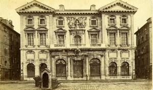 France Marseille City Hall & Sentry Box Guerite Old Neurdein CDV Photo 1870's