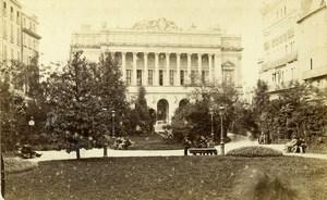 France Marseille Stock Exchange & Park Old Neurdein CDV Photo 1870's