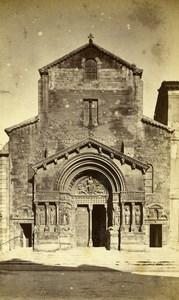 France Arles Church of St Trophime Door Façade Old Neurdein CDV Photo 1870's