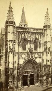 France Avignon church Saint Pierre Facade Old Neurdein CDV Photo 1870
