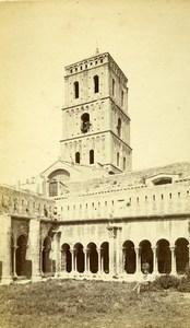 France Arles Cloitre St Trophisme Cloister Old Neurdein CDV Photo 1870