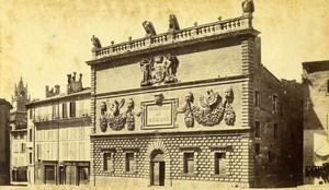 France Avignon Mint House Music School Conservatoire Old Neurdein CDV Photo 1870