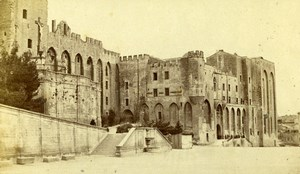 France Avignon Palais des Papes Papal palace Old Neurdein CDV Photo 1870