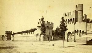 France Avignon City Walls Remparts Old Neurdein CDV Photo 1870