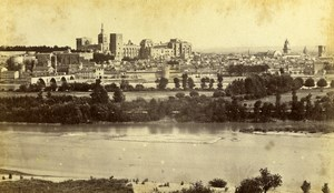 France Avignon Panorama General View Old Neurdein CDV Photo 1870