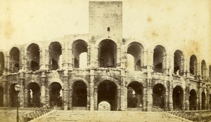 France Arles Exterior view of Arenas Arenes Old Neurdein CDV Photo 1870