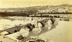 France Avignon bridge St Benezech Old Neurdein CDV Photo 1870