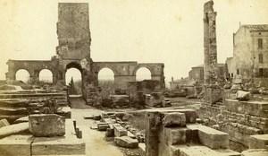 France Arles Roman Theater Theatre Romain Old Neurdein CDV Photo 1870