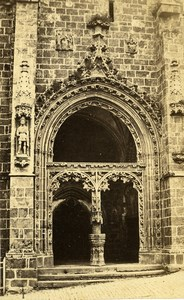 Brittany Quimperle Church Door Notre-Dame de l'Assomption CDV Photo Carlier 1870