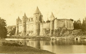 France Brittany Chateau de Josselin Castle Old CDV Photo Carlier 1870
