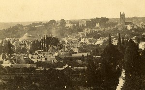 France Brittany Quimperlé Panorama General View Old CDV Photo Carlier 1870